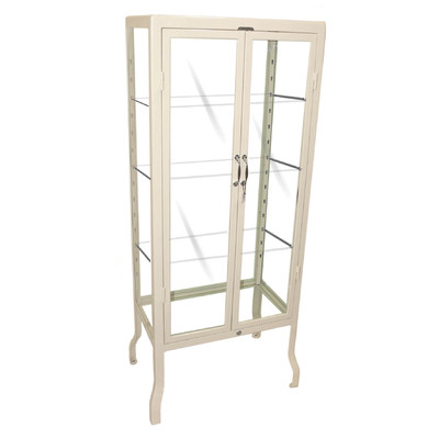 Dulton Large Doctor Display Cabinet White - Higher Ground Homes ...