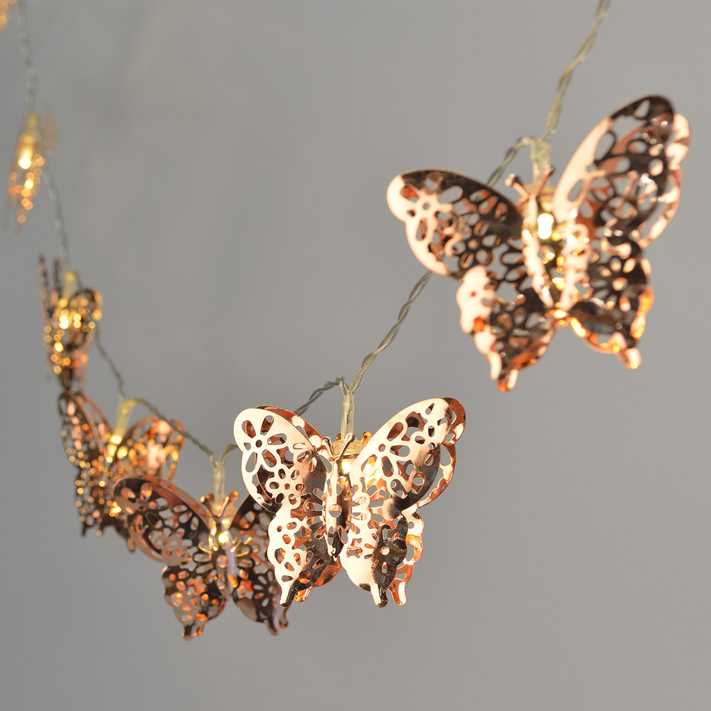 Indoor Butterfly String Lights : Butterfly LED String Lights - Higher Ground Homes and Gardens
