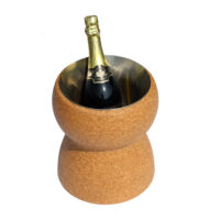 Cork Ice Bucket with removable stainless steel bucket